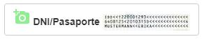 Botón fotografía de documentos de identidad o pasaportes