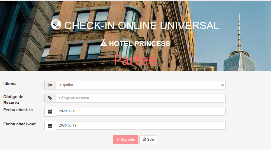 Check-in online universal