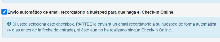 Check-in Online recordatorio.